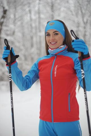 Разминочная куртка Nordski Premium Red/Blue W женская