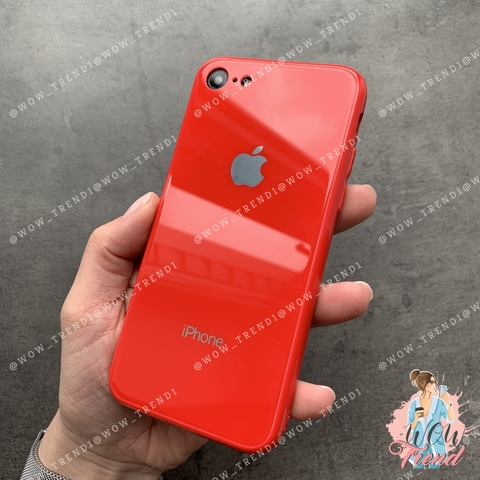 Чехол iPhone 6/6S Glass Full color Case Logo /red/