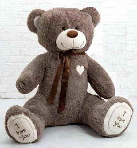 Плюшевый медведь Кофейный 150 см