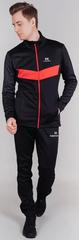 Утеплённый лыжный костюм Nordski Base Black/Red 2021 мужской