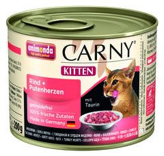 Консервы Animonda Carny Kitten с говядиной и сердцем индейки для котят