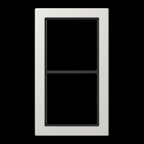 Рамка на 2 поста. Цвет Светло серый. JUNG FD - ДИЗАЙН. FD982LG