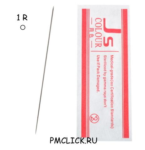 1R иглы для татуажа JS-COLOUR -1 упаковка 10 шт.