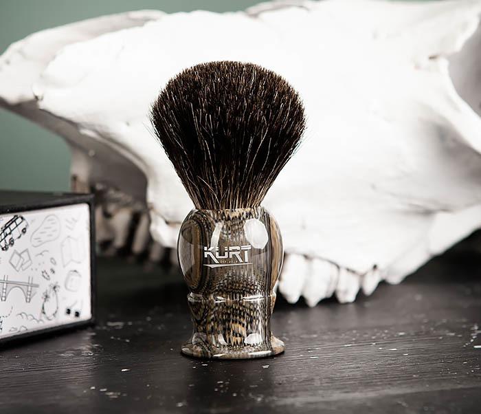 RAZ473 Помазок из барсучего волоса в подарочной упаковке фото 04