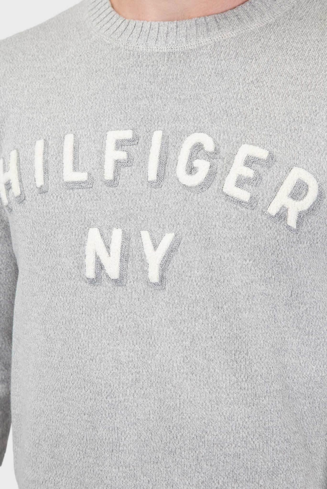 Мужской серый джемпер Tommy Hilfiger