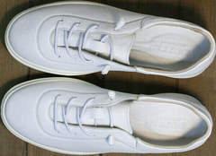 Модные кроссовки белые женские кожаные Rozen M-520 All White.