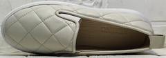 Бежевые туфли слипоны женские осень Alpino 21YA-Y2859 Cream.