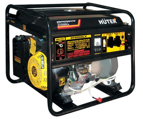 Электрогенератор HUTER DY6500LX - электростартер