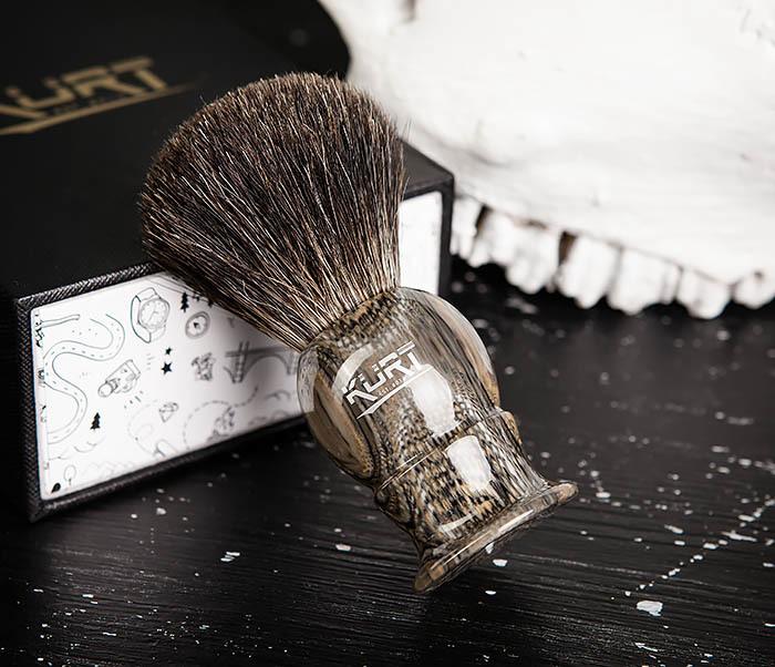 RAZ473 Помазок из барсучего волоса в подарочной упаковке фото 05