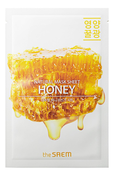 Тканевые маски Тканевая маска для лица с медом, The SAEM, Natural Honey Mask Sheet, 21мл 1__15_.jpg
