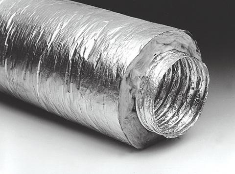 Воздуховод ERA AF102изо dØ102 гибкий армированный, теплоизоляция 30мм,металлизированная пленка 70мкм L=10м