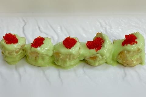 Жареные креветки с соусом Васаби (острое блюдо)