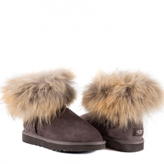 UGG Mini Fox Fur Chocolate