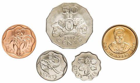 Набор из 5 монет. Свазиленд. 2007-2011 гг. UNC