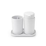 Набор аксессуаров для ванной комнаты ReNew, 3 пр., Белый, артикул 280382, производитель - Brabantia
