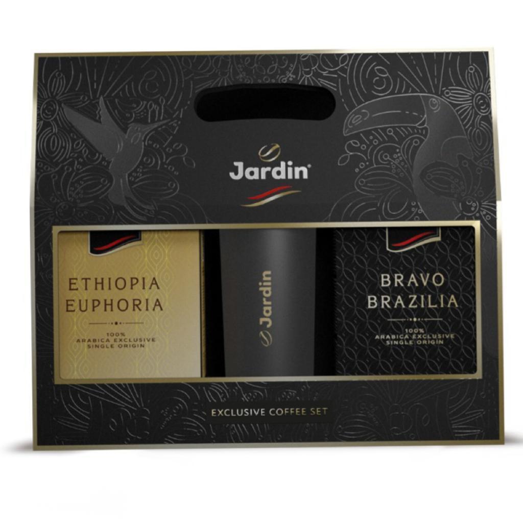 Подарочный набор Jardin Ethiopia Euphoria и Bravo Brazilia с термокружкой, 250г