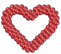 Сердце из шаров (на каркасе)
