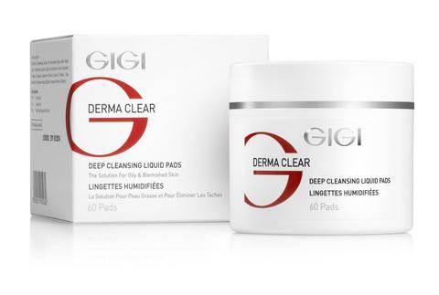Gigi Derma Clear Deep Cleansing Liquid Pads, Oчищающие ватные диски, 100 мл.