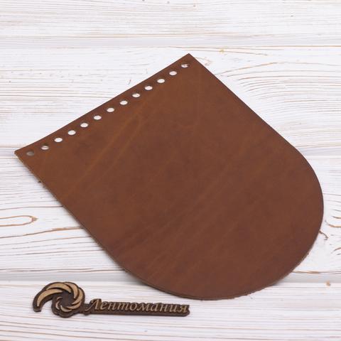"""Клапан для сумочки кожаный """"Хурма"""" 19,5 см на 15,5 см"""