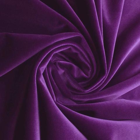Бархат матовый фиолетовый оптом. Ш-290 см. Арт. 999-21