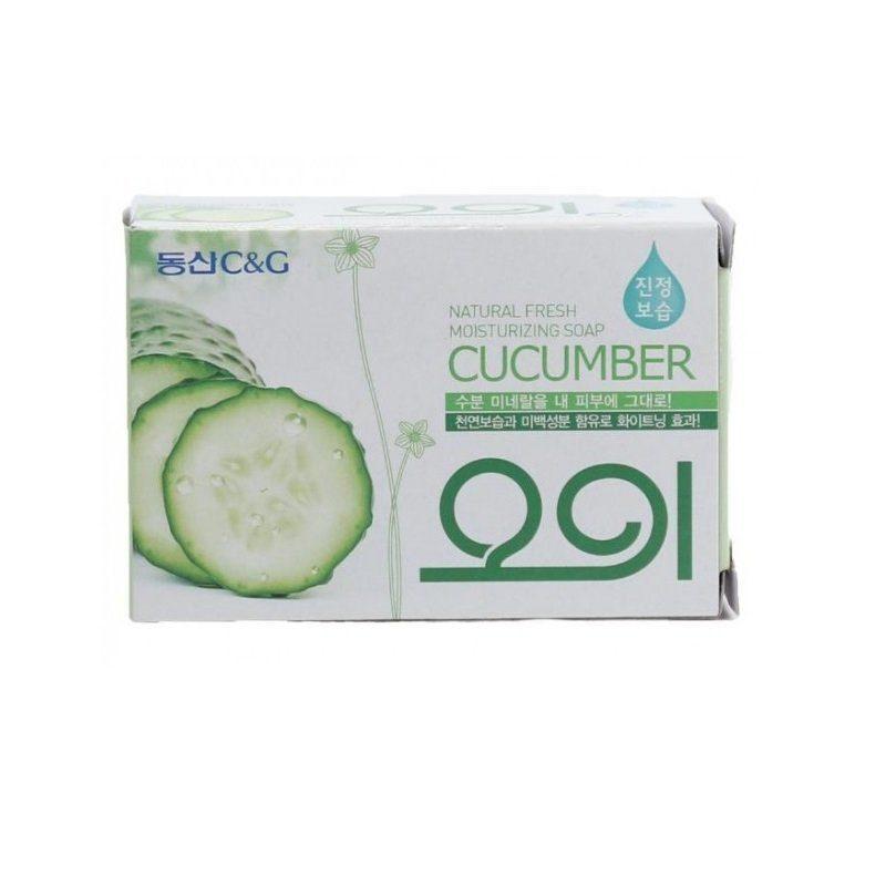 Косметическое увлажняющее мыло с экстрактом огурца Mukunghwa
