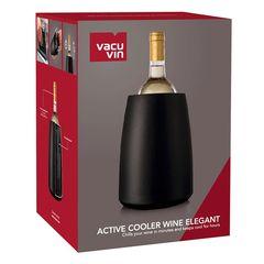 Охладительное ведёрко Элегант для вина, черное, фото 2