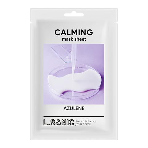 L'Sanic Маска тканевая азулен - Azulene calming mask sheet, 25 мл
