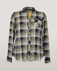 Блузка HAT рубашка карман клетка квадратики
