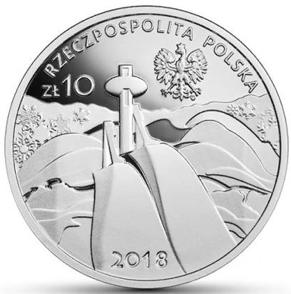 10 злотых. Пхенчхан 2018. ХХIII Зимние Олимпийские игры. Польша. 2018 год