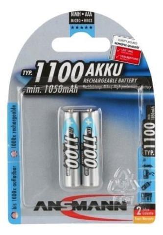 Аккумулятор ААА/NiMH ANSMANN 1.2V 1100mAh