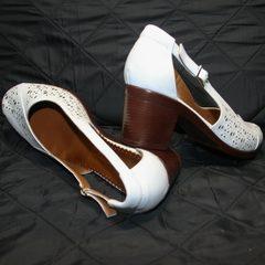 Белые туфли босоножки Marani Magli 031 405 White.