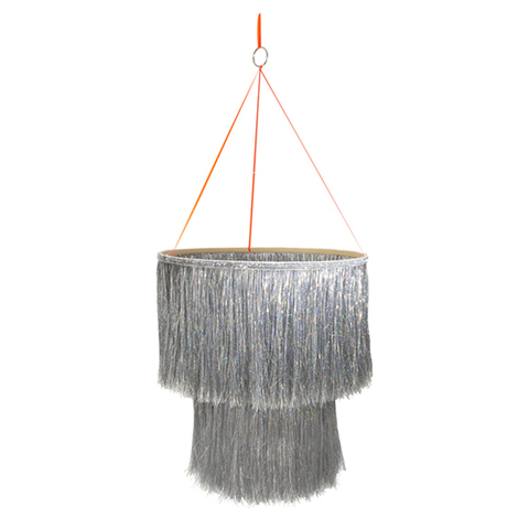 Подвеска из ткани/бумаги, серебро