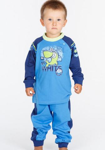 Детская трикотажная пижама с удобной застежкой на плече