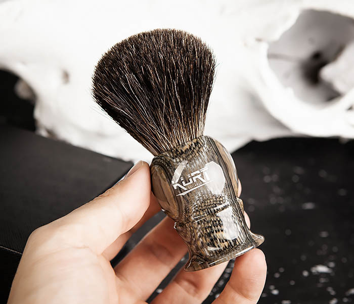RAZ473 Помазок из барсучего волоса в подарочной упаковке фото 07