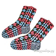 Женские носки вязаные теплые джурабы 0127