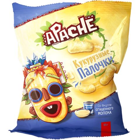 Кукурузные палочки со вкусом сгущенного молока Apache, 85г