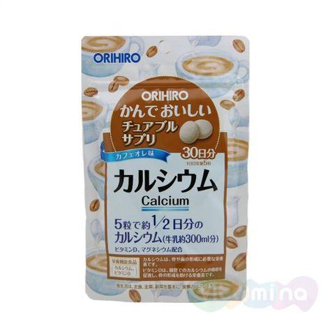 БАД Кальций с витамином D со вкусом кофе ORIHIRO 150 таблеток