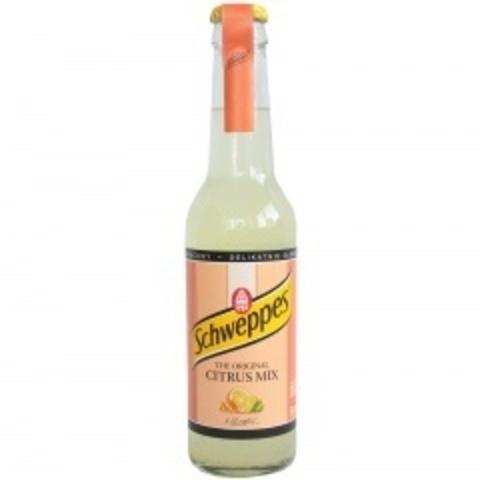 Schweppes Citrus mix Швепс цитрусовый микс 0,275 л в стекле