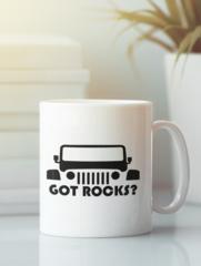 Кружка с рисунком Jeep (Джип) белая 0012