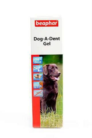 11352 Беафар Dog-a-dent Гель д/чистки зубов д/собак 100гр*6*54