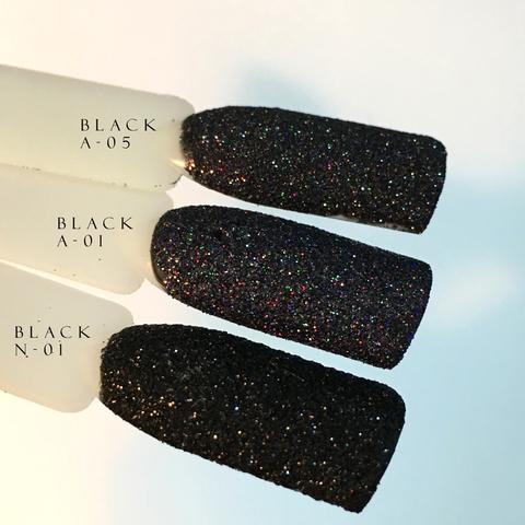 Блеск для ногтей Black N-01