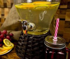 Стеклянный диспенсер для напитков «Вулкан», 5 литров, фото 3