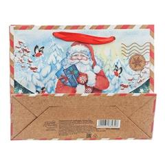 Пакет крафтовый горизонтальный «Почта от Деда Мороза»