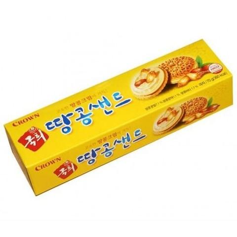 Печенье Crown с арахисовой прослойкой 70 гр
