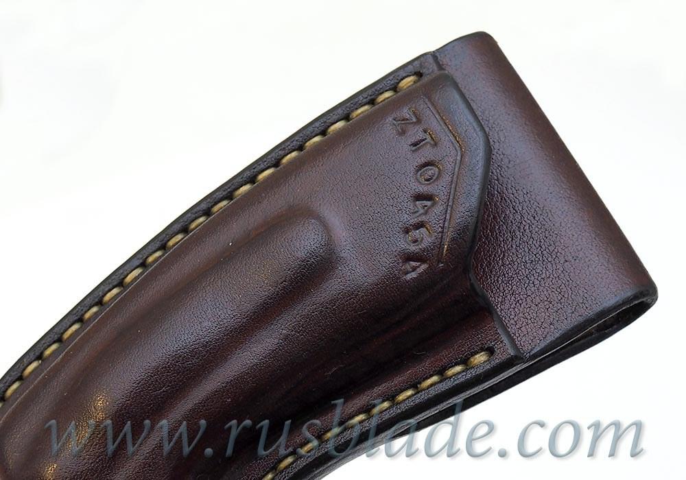 CUSTOM Handmade ZT 0454 Zero Tolerance 0454 Leather Sheath Brown - фотография