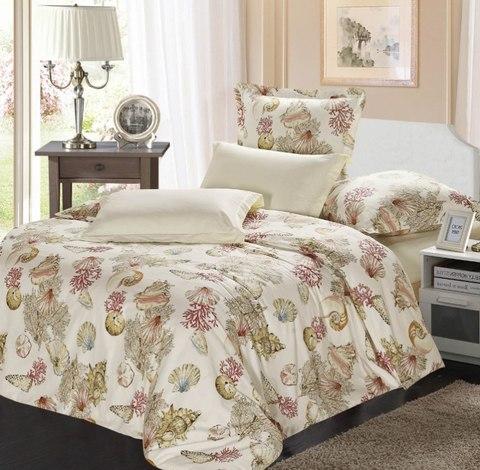 Сатиновое постельное бельё  1,5 спальное Сайлид  В-155