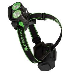 Фонарь светодиодный налобный LED Lenser XEO 19R зеленый, 2000 лм., аккумулятор