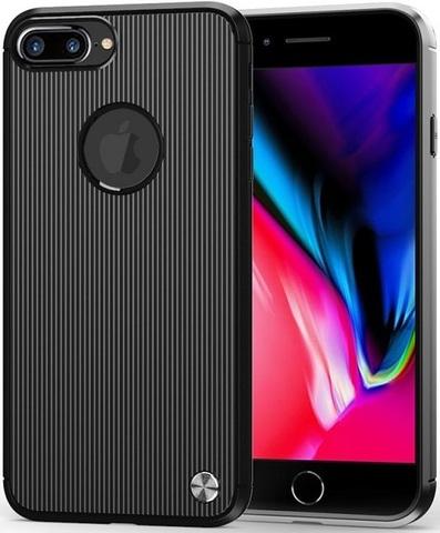 Чехол для iPhone 7 Plus (8 Plus) цвет Black (черный), серия Bevel от Caseport