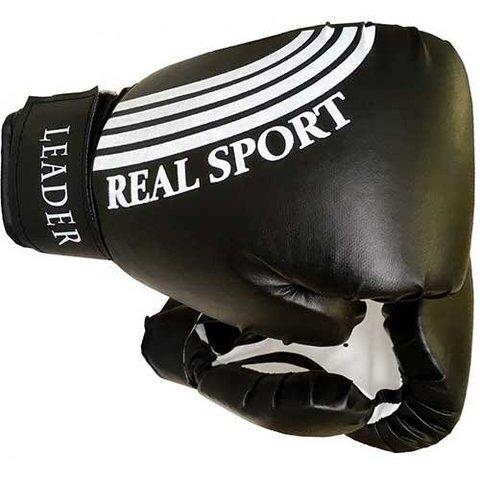 Перчатки боксерские  LEADER 10 унций, черный (ЕвСп) (LEADER 10)