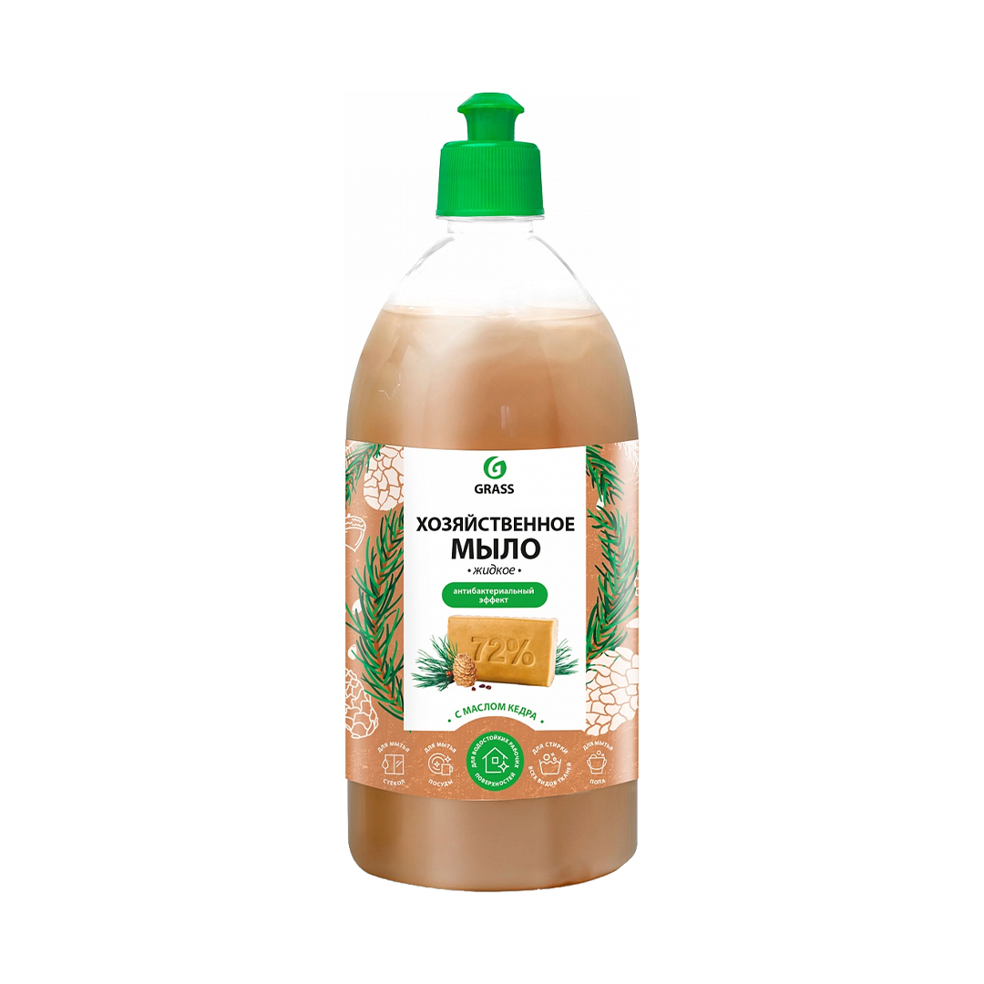 Мыло жидкое хозяйственное с маслом кедра 1л